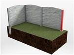 Betónový stĺpik priebežný - betonove ploty