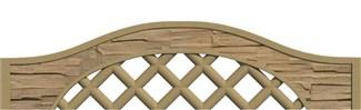 Betónová doska mriežka 200x50(30)x4,5cm so vzorom štiepaného kameňa jednostranná
