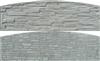 Betónová doska rádius 200x50(61)x4,5cm so vzorom štiepaného kameňa/skladaného kameňa obojpohľadná