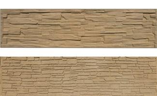 Betónová doska rovná 200x50x4,5cm so vzorom štiepaného kameňa/skladaného kameňa obojpohľadná