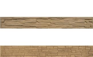 Betónová doska soklová 200x25x4,5cm so vzorom štiepaného kameňa/skladaného kameňa obojpohľadná