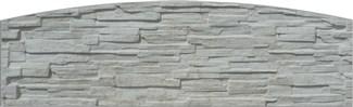 Betónová doska rádiusová 200x50(61)x4,5cm so vzorom štiepaného kameňa jednostranná