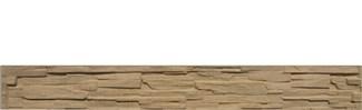 Betónová doska soklová 200x25x4,5cm so vzorom štiepaného kameňa jednostranná