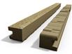 Betónový stĺpik koncový 220x13x14 cm vzorovaný obojpohľadný