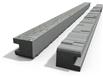 Betónový stĺpik koncový 280x13x14 cm vzorovaný obojpohľadný