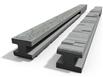 Betónový stĺpik priebežný 220x13x14 cm vzorovaný obojpohľadný