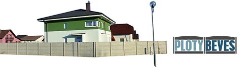 Ilustračný obrázok betónového plotu