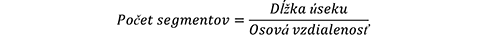 Vzorec na výpočet počtu segmentov betónového plotu
