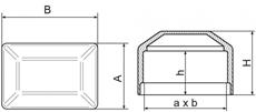 Nákres krytky plotového stĺpiku 60x40