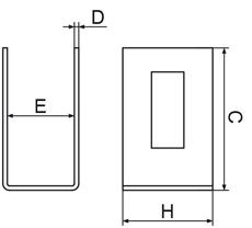 Nákres koncovej príchytky k plotovému stĺpiku