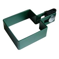 Koncová hranatá príchytka plotového panelu machová zelená