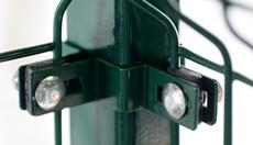 Rohová hranatá príchytka plotového panelu