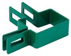 Rohová hranatá príchytka plotového panelu machová zelená