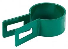 Koncová okrúhla príchytka plotového panelu machová zelená