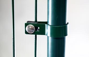 Koncová okrúhla príchytka plotového panelu