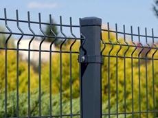 Plotový stĺpik k plotovému panelu Antracit