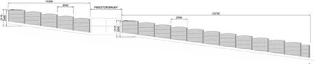 Nákres betónové ploty pre stavebný úrad